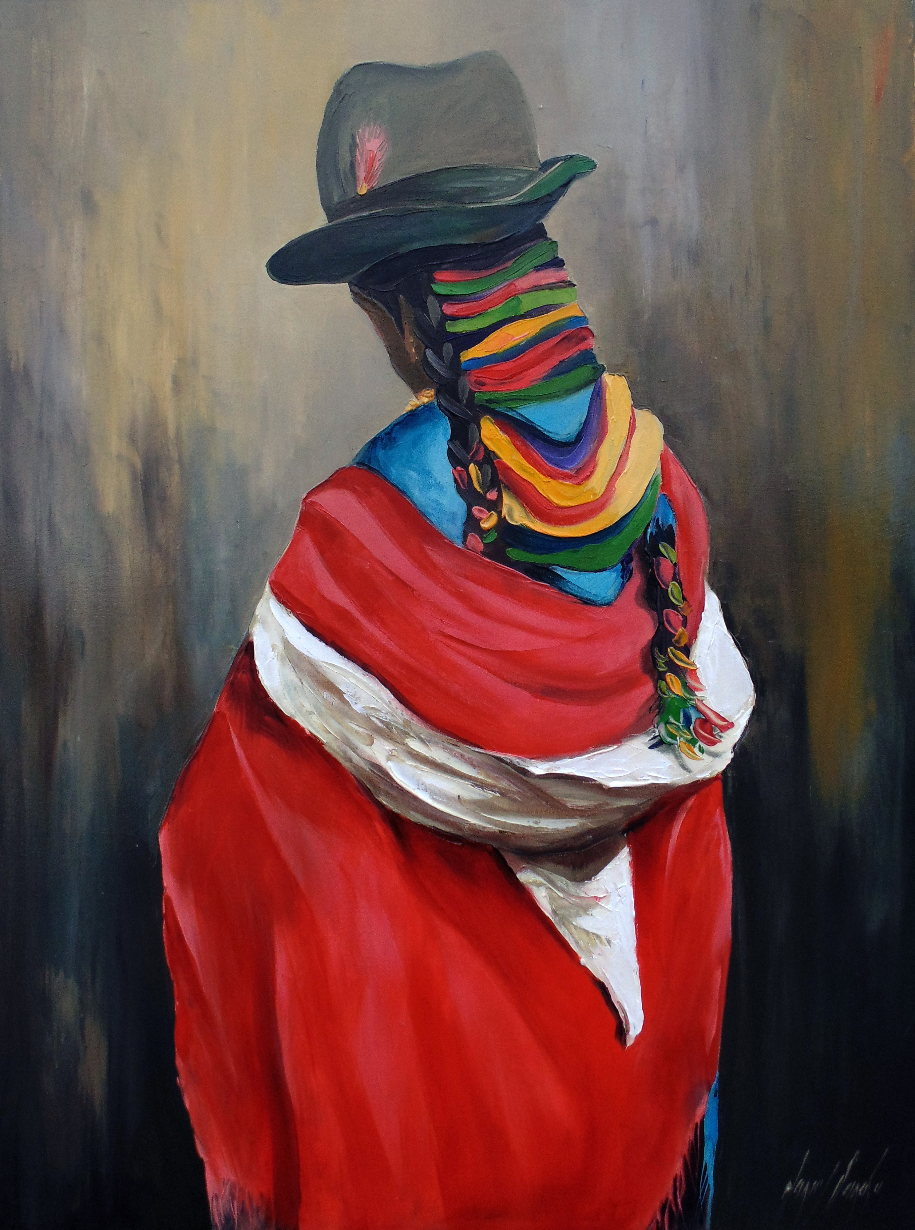 Rojo / Oil on canvas / 80 x 60 cm