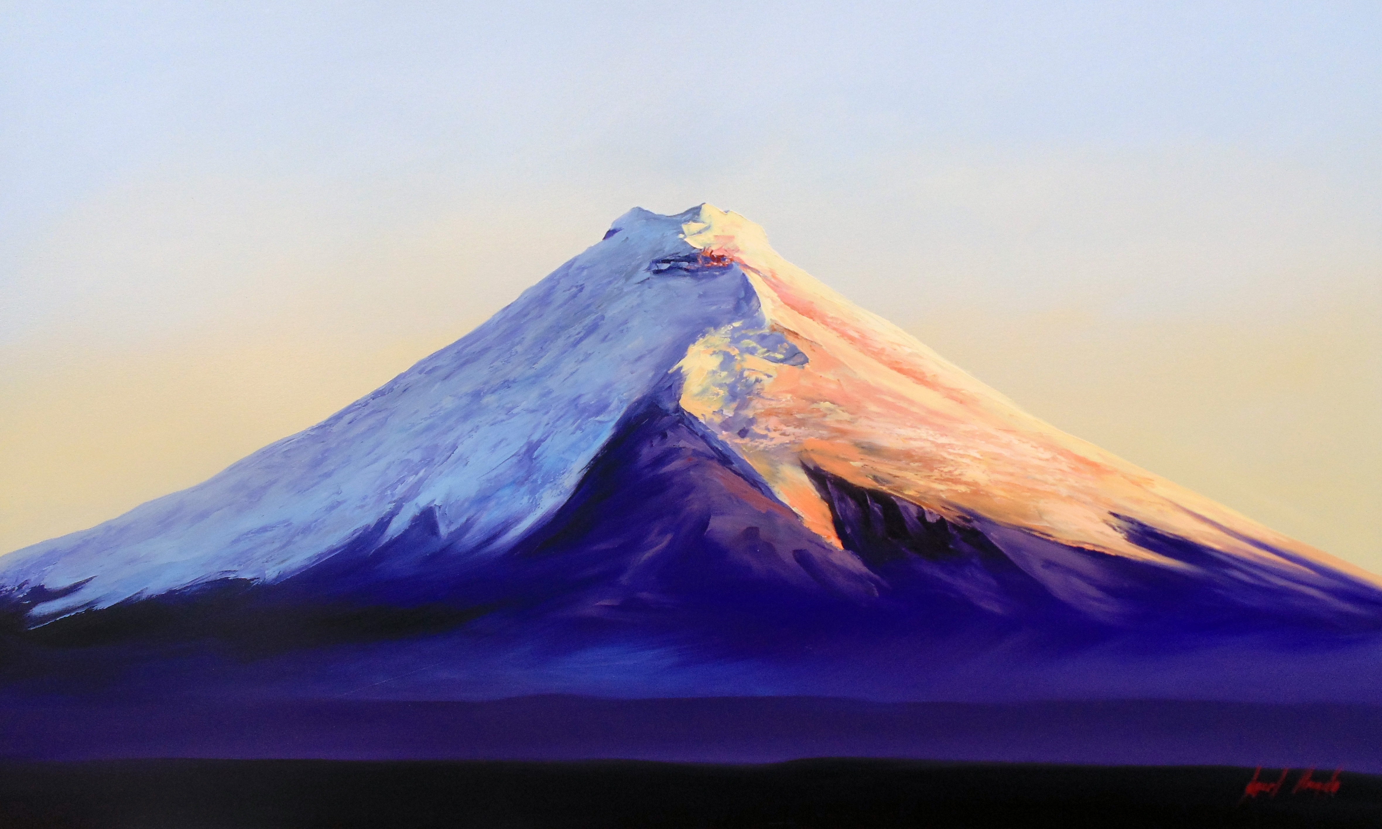 Cotopaxi / Oil on canvas / 180 x 110 cm