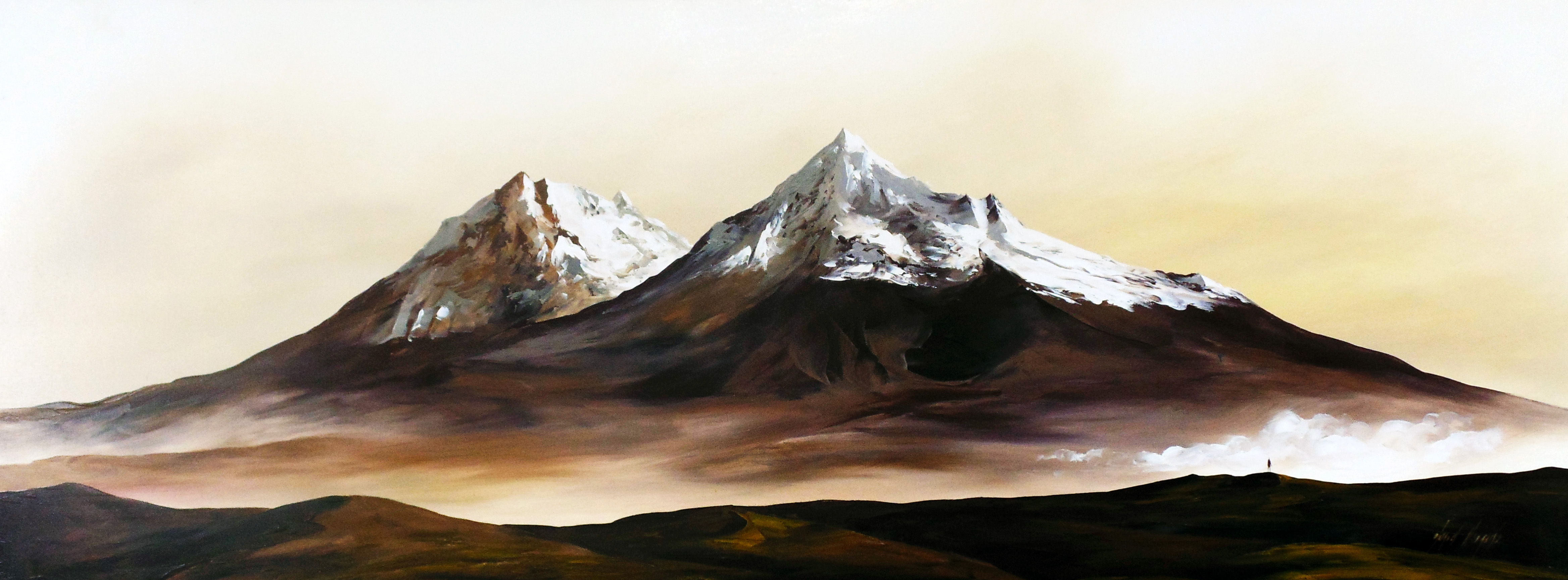 Ilinizas / Oil on canvas / 170 x 60 cm