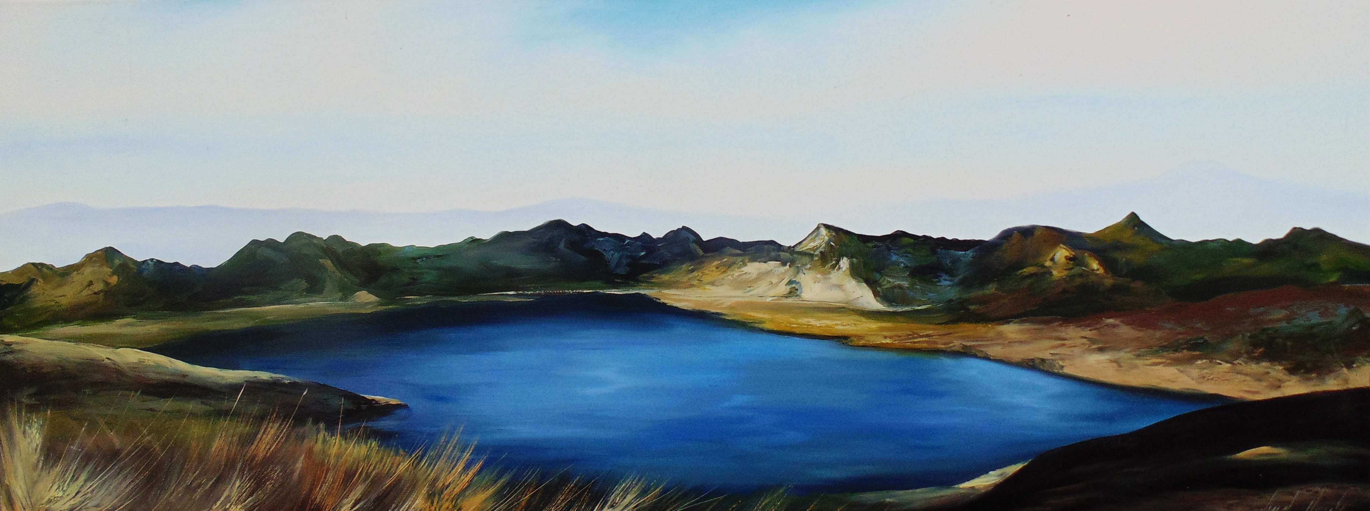 Mojanda / Oil on canvas / 180 x 70 cm