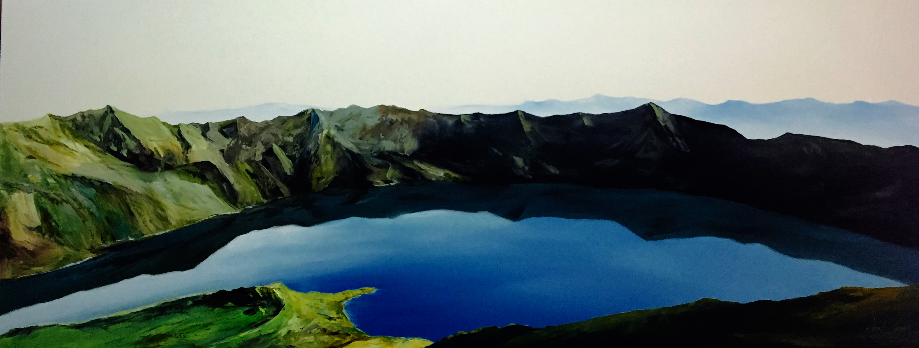 Quilotoa / Oil on canvas / 180 x 70 cm