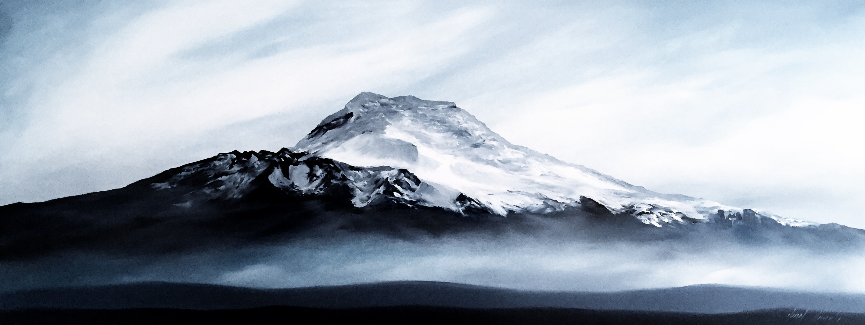 Cayambe / Oil on canvas / 180 x 70 cm