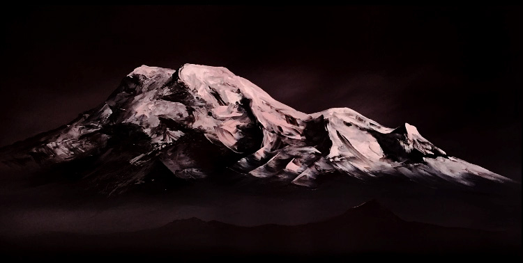 Chimborazo nocturno /Oil on canvas / 170 x 70 cm